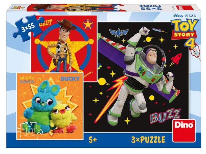 DINO Puzzle Toy Story 4, 3x55 dílků