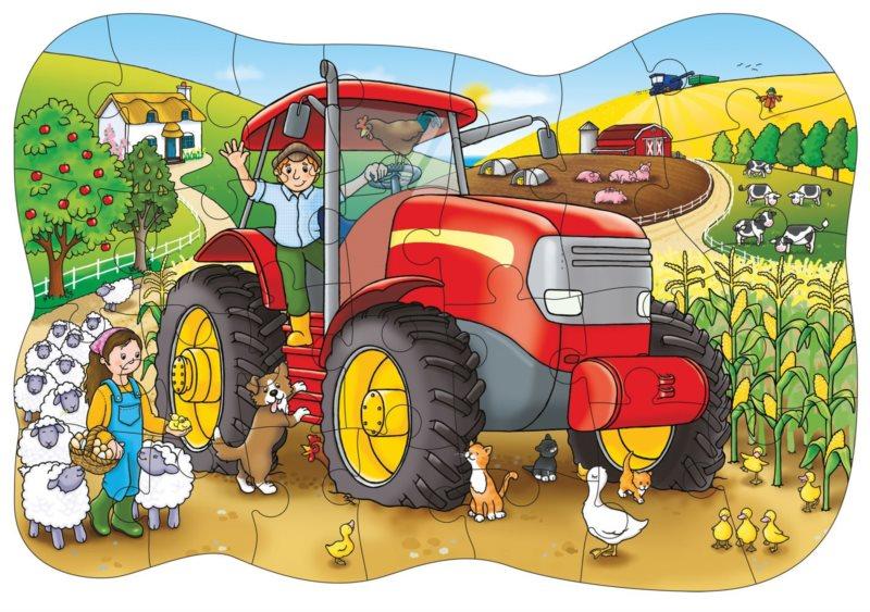 ORCHARD TOYS Puzzle Traktor 25 dílků