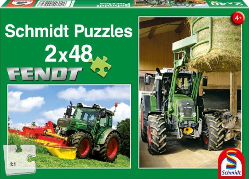 SCHMIDT Puzzle Traktory Fendt Vario 2x48 dílků