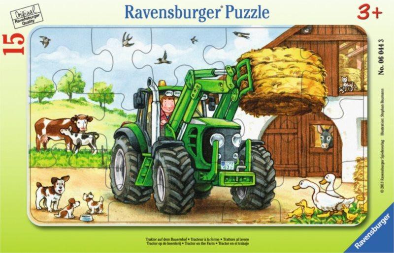RAVENSBURGER Puzzle Traktor na statku 15 dílků