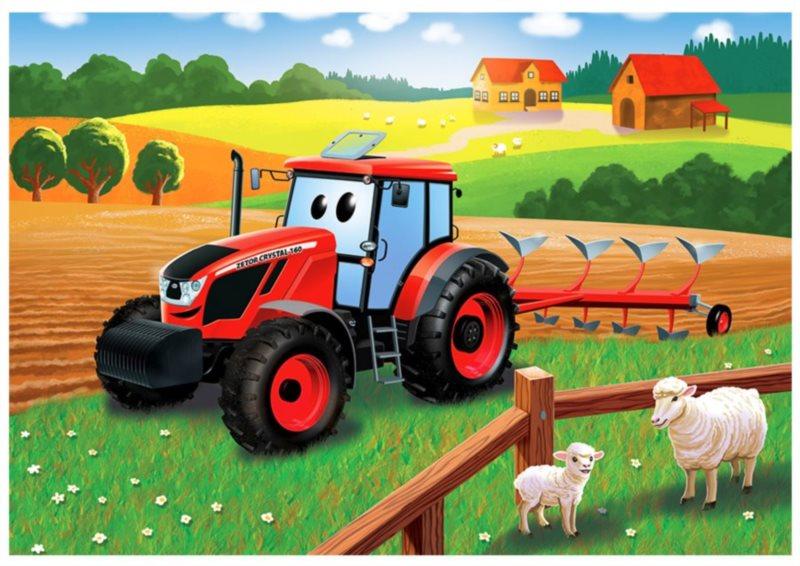 DINO Puzzle Traktor Zetor na poli 24 dílků
