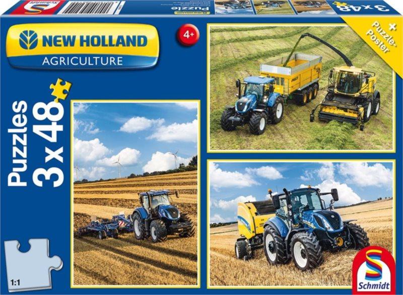 SCHMIDT Puzzle Traktory New Holland 3x48 dílků