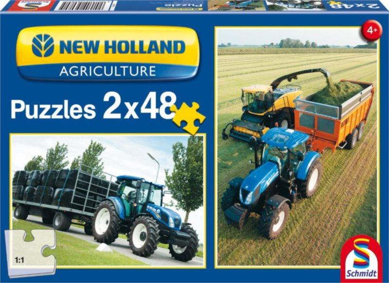 Puzzle Traktory New Holland TD 115 a FR 500 2x48 dílků