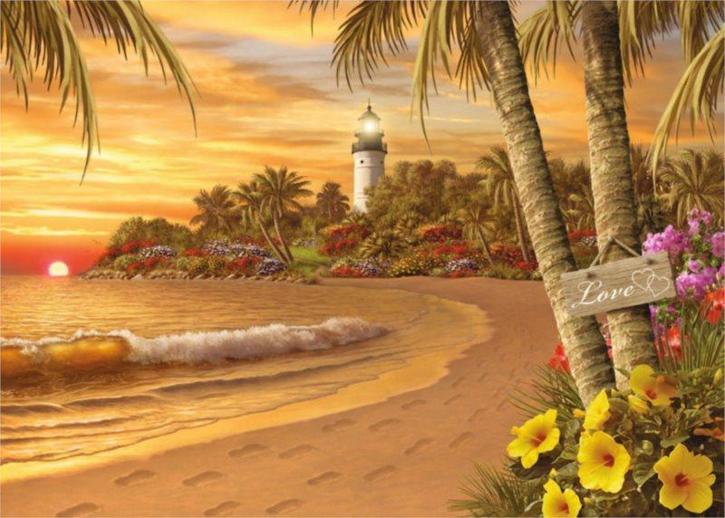 Puzzle RAVENSBURGER 500 dílků - Tropická láska