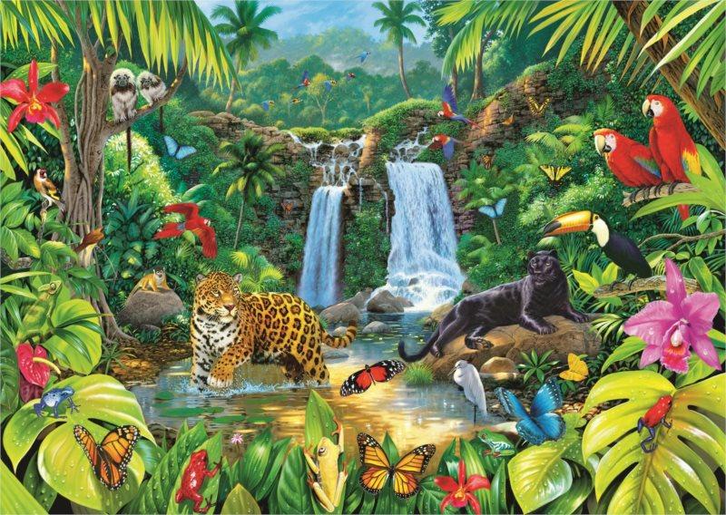 TREFL Puzzle Tropický deštný prales 2000 dílků