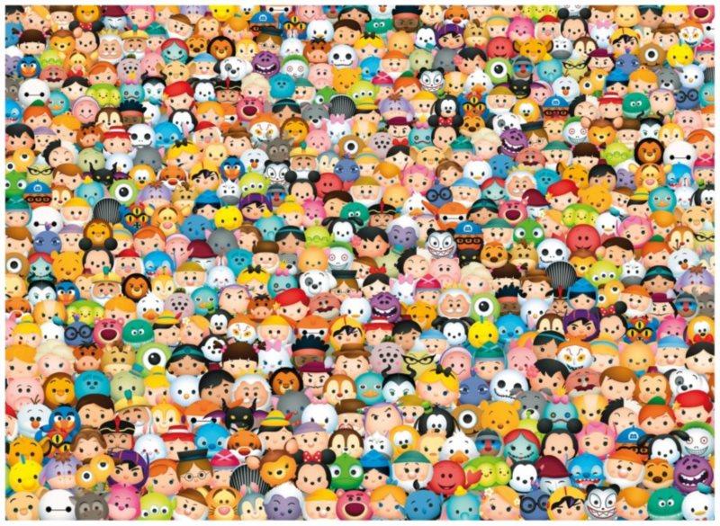 CLEMENTONI Puzzle Tsum Tsum: Impossible 1000 dílků