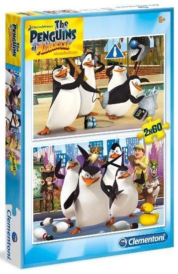 CLEMENTONI Puzzle Tučňáci z Madagaskaru 2x60 dílků