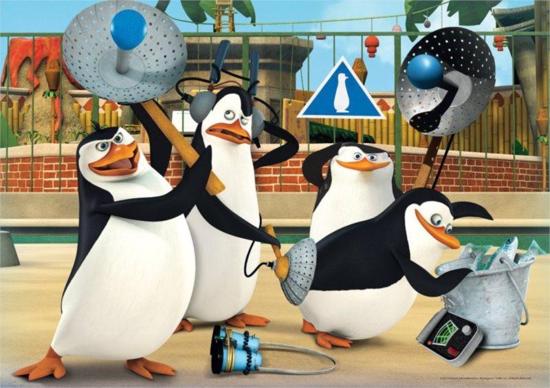 CLEMENTONI Puzzle Tučňáci z Madagaskaru 60 dílků