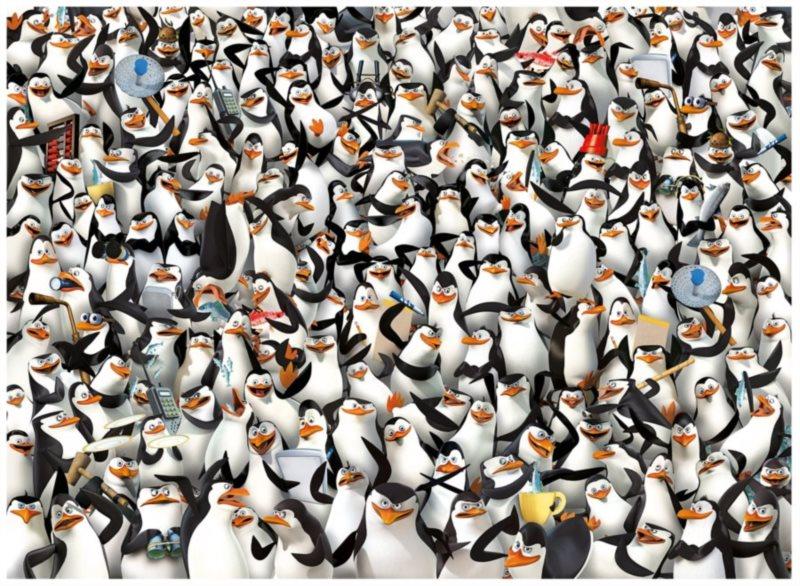 CLEMENTONI Puzzle Tučňáci z Madagaskaru: Impossible 1000 dílků