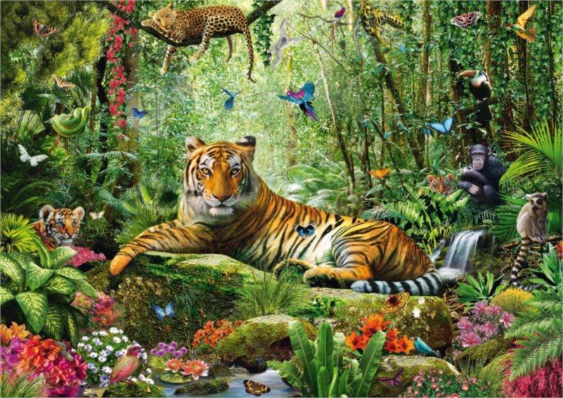 Puzzle SCHMIDT 1500 dílků - A.Chesterman: Tygr v džungli