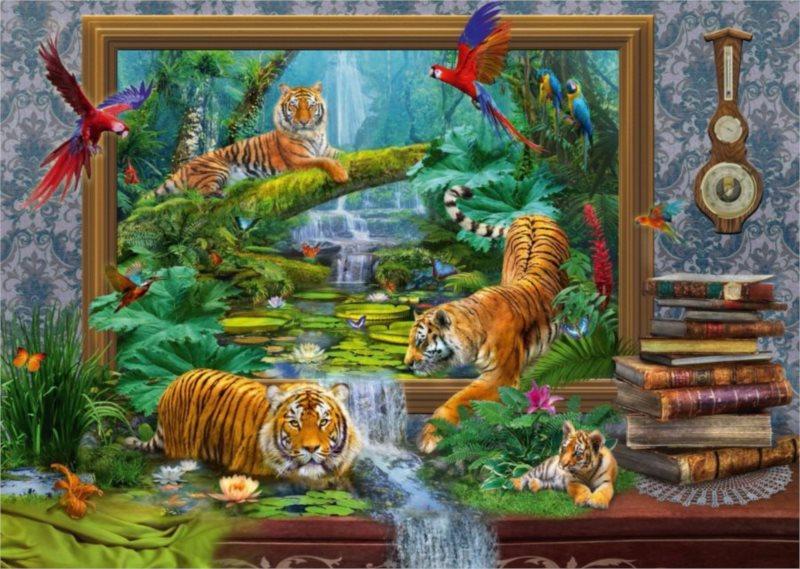 Puzzle SCHMIDT Tygři ožívají 1000 dílků