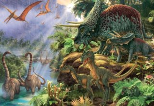 Puzzle JUMBO 18378 Údolí dinosaurů 1000 dílků