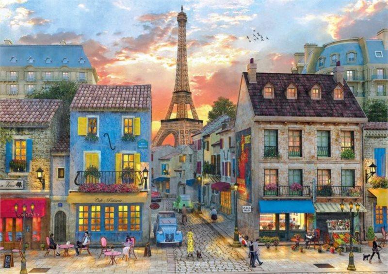 CLEMENTONI Puzzle Ulice Paříže 1500 dílků