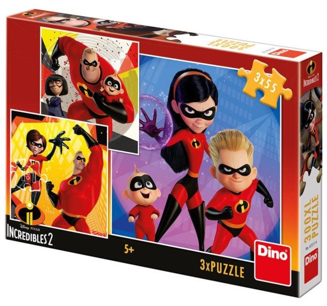 DINO Puzzle Úžasňákovi 2, 3x55 dílků