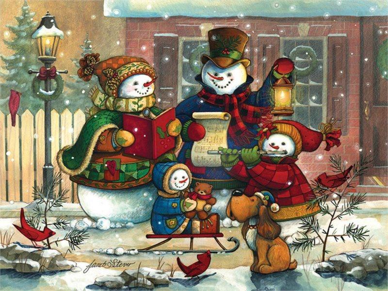 COBBLE HILL Puzzle Vánoční koleda 500 dílků