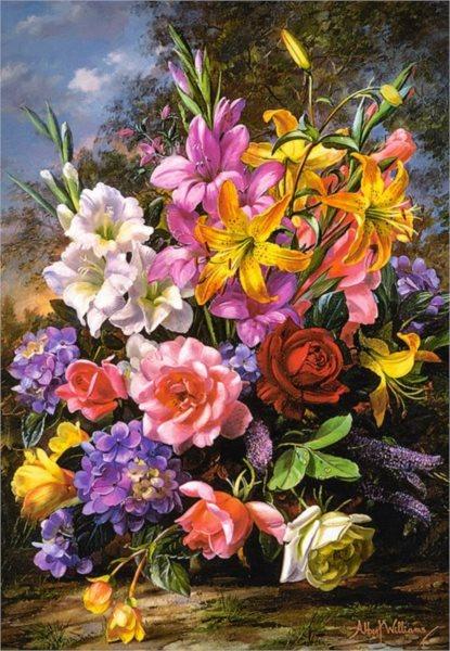 CASTORLAND Puzzle Váza plná květin 1000 dílků