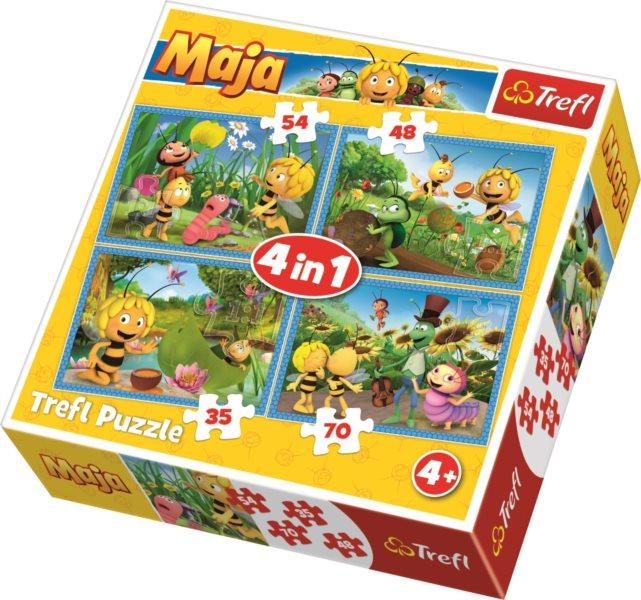 TREFL Puzzle Včelka Mája 4v1 (35,48,54,70 dílků)