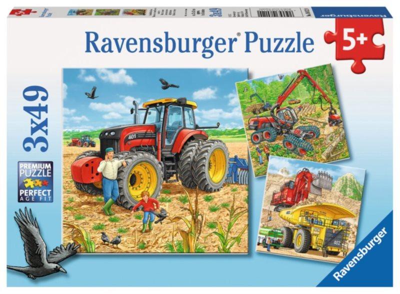 RAVENSBURGER Puzzle Velké stroje 3x49 dílků