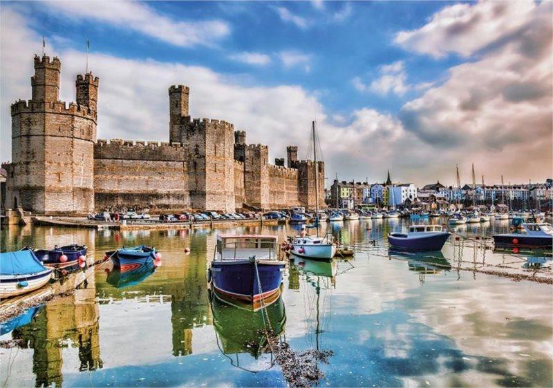 Puzzle DINO 500 dílků - Velšský hrad, Velká Británie