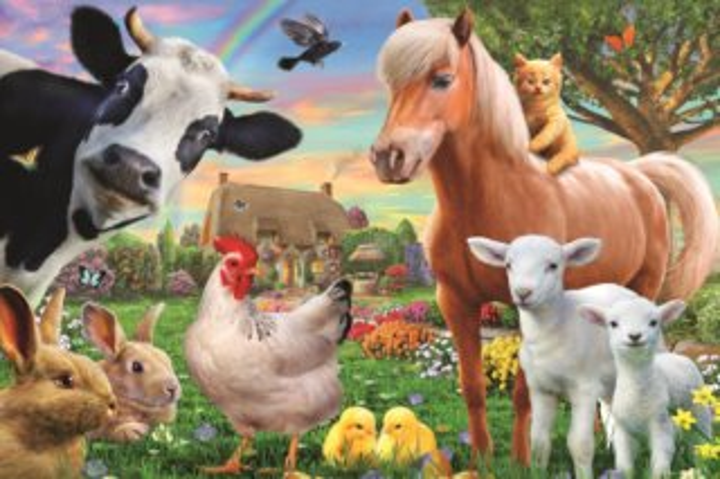 TREFL Puzzle Veselá farma 60 dílků