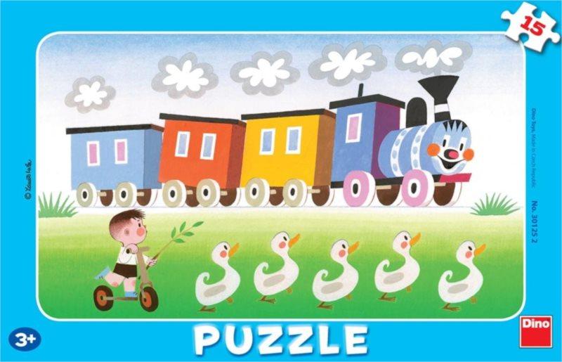 DINO Puzzle Veselá mašinka 15 dílků