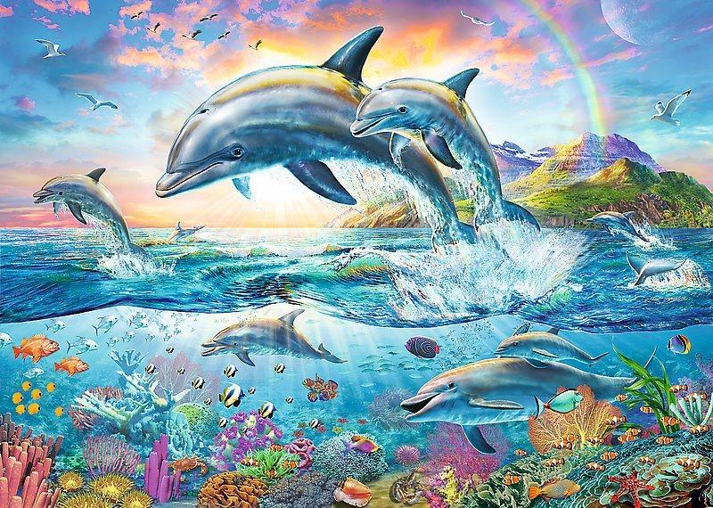 TREFL Puzzle Veselí delfíni 2000 dílků
