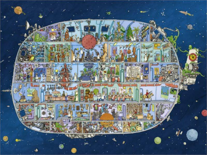 HEYE Puzzle Vesmírná loď 1500 dílků