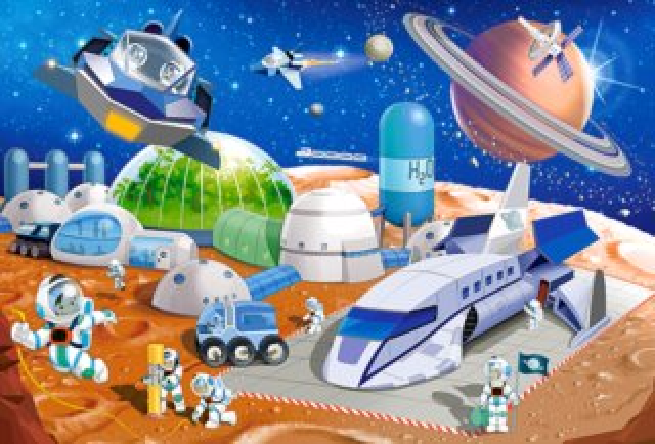 CASTORLAND Puzzle Vesmírná stanice MAXI 40 dílků