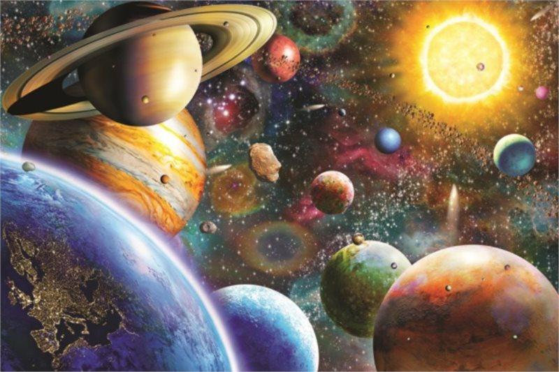 Puzzle JUMBO 18586 Vesmírné planety 1500 dílků