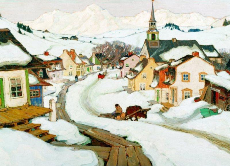 Puzzle EUROGRAPHICS 1000 dílků: Vesnice Laurentides