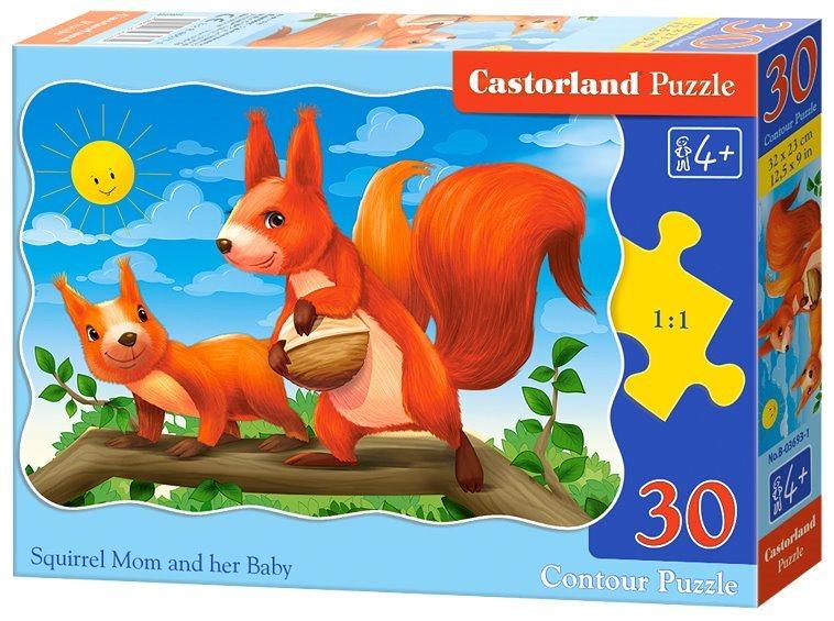 CASTORLAND Puzzle Veverka s mládětem 30 dílků