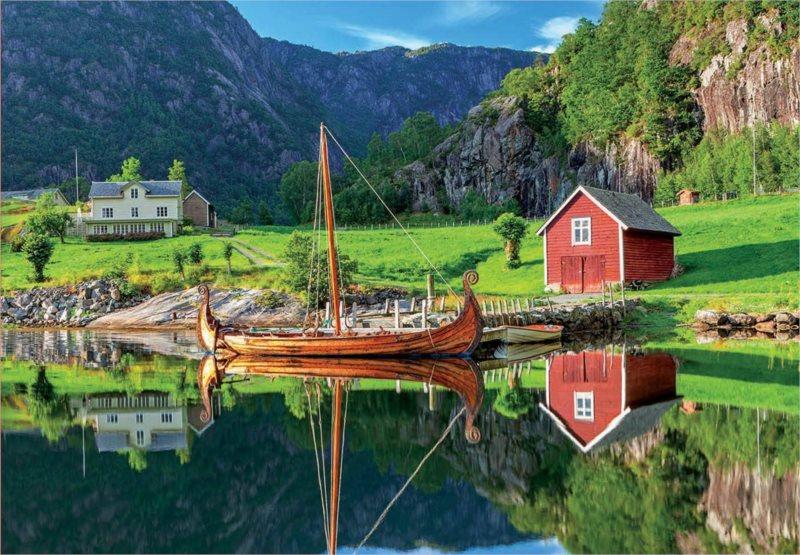 EDUCA Puzzle Vikingská loď 1500 dílků