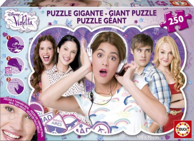 Puzzle EDUCA 250 dílků - Violetta MAXI (+lepidlo)