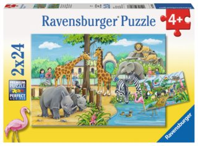 RAVENSBURGER Puzzle Vítejte v Zoo 2x24 dílků