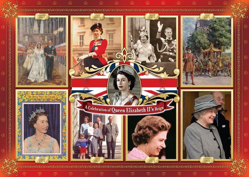 FALCON puzzle 1000 dílků - Vláda královny Alžběty II.
