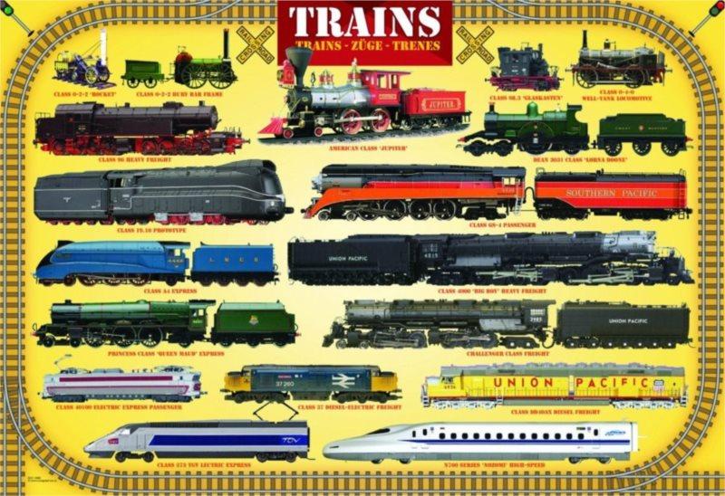 EUROGRAPHICS Puzzle Vlaky 100 dílků