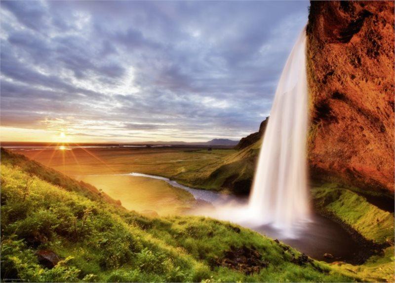 HEYE Puzzle Vodopád Seljalandsfoss, Island 1000 dílků