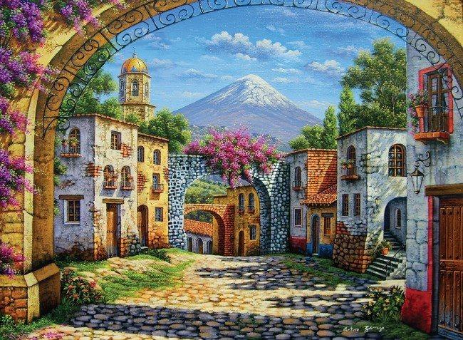 CLEMENTONI Puzzle Vulkán 500 dílků