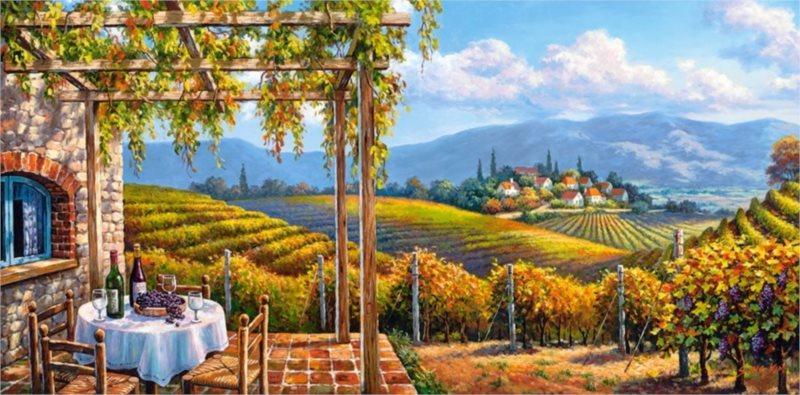CASTORLAND Puzzle Výhled na vinohrad 4000 dílků