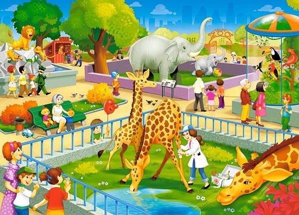 CASTORLAND Puzzle Výlet do zoo 60 dílků