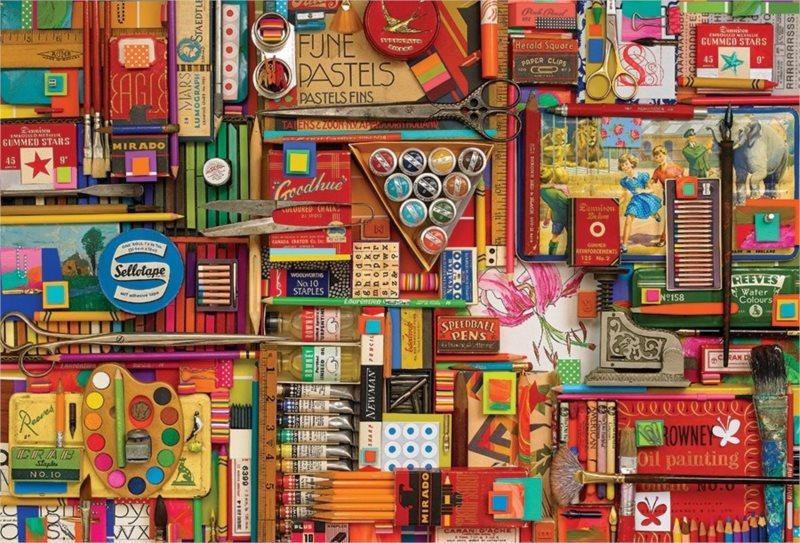COBBLE HILL Puzzle Výtvarné potřeby 2000 dílků