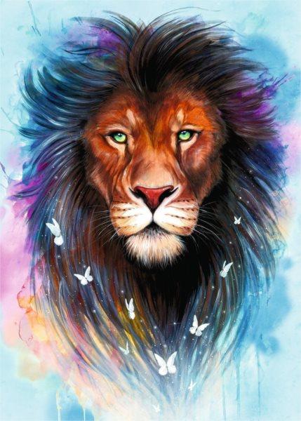 RAVENSBURGER Puzzle Vznešený lev 1000 dílků