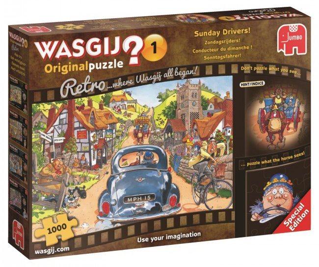 JUMBO Puzzle WASGIJ 1: Nedělní řidiči 1000 dílků