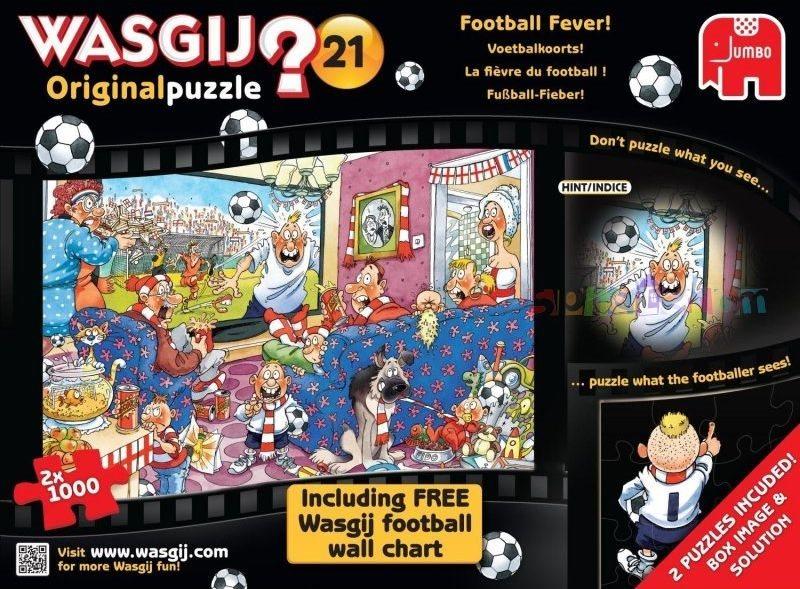 JUMBO Puzzle WASGIJ 21: Fotbalová horečka - 2 x 1000 dílků