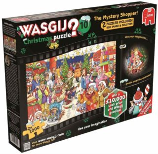 JUMBO Puzzle WASGIJ Christmas 10: Záhadný zákazník - 2x1000 dílků