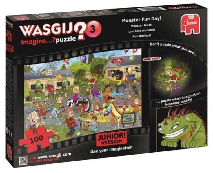 JUMBO Puzzle WASGIJ Imagine 3: Zábavný den s příšerkami 100 dílků
