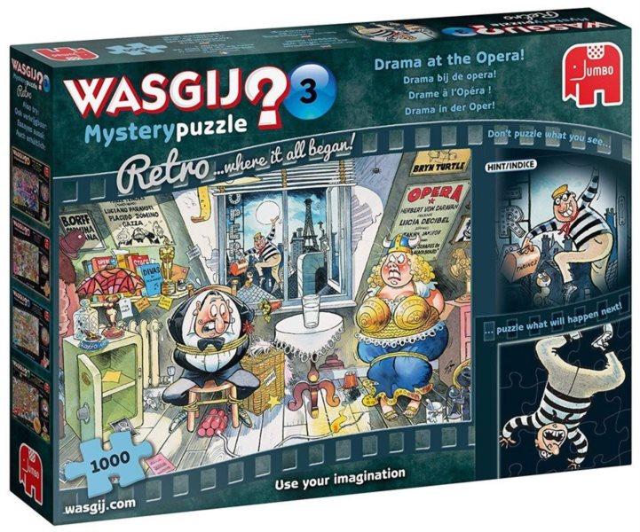 JUMBO Puzzle WASGIJ Mystery 3: Drama v opeře! 1000 dílků