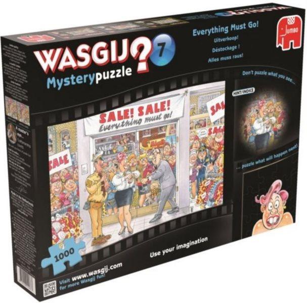 JUMBO Puzzle WASGIJ Mystery 7: Všechno musí pryč! - 1000 dílků