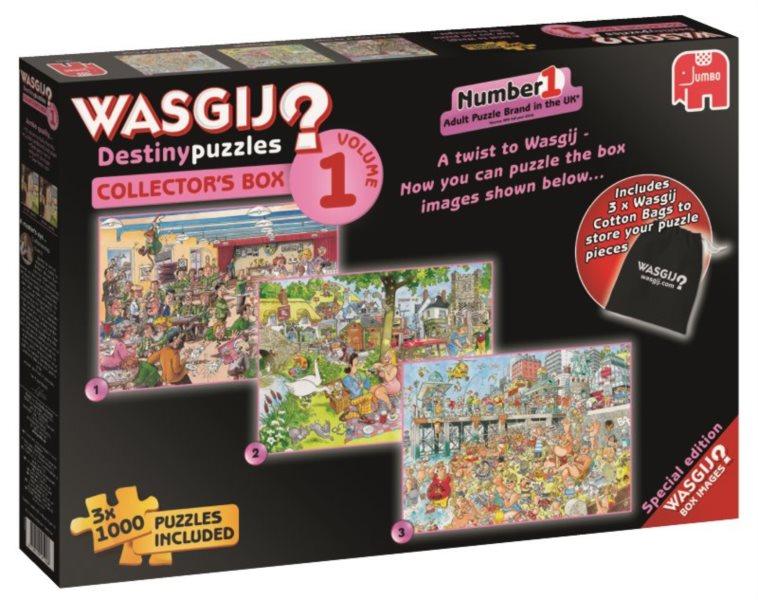 JUMBO Puzzle WASGIJ 1: Sběratelský box - 3x1000 dílků