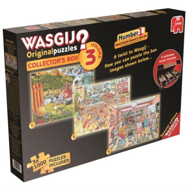 JUMBO Puzzle WASGIJ 3: Sběratelský box - 3x1000 dílků